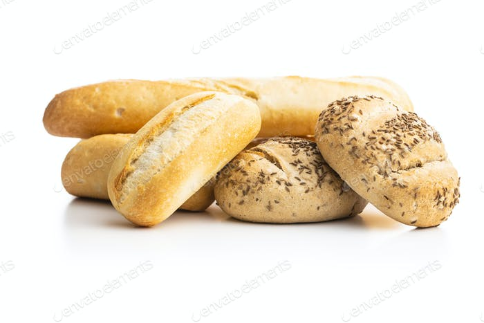 Wholegrain buns and baguettes