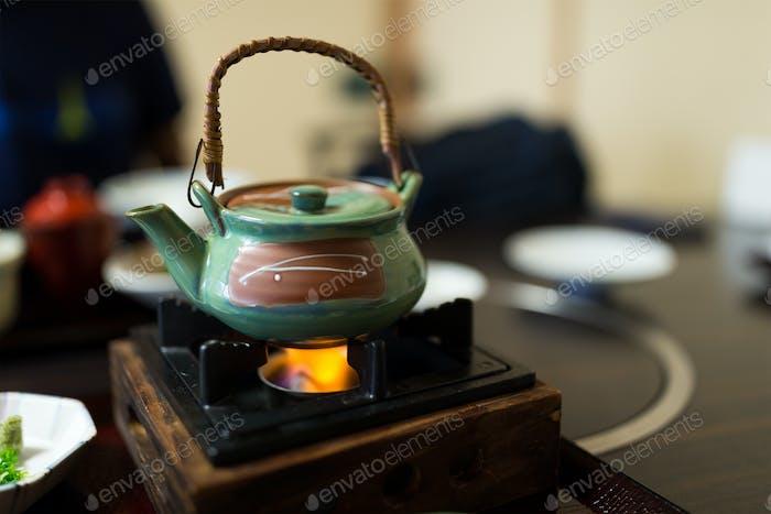 Heating teapot