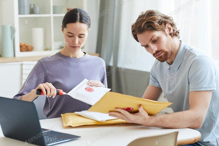 Couple getting parcels