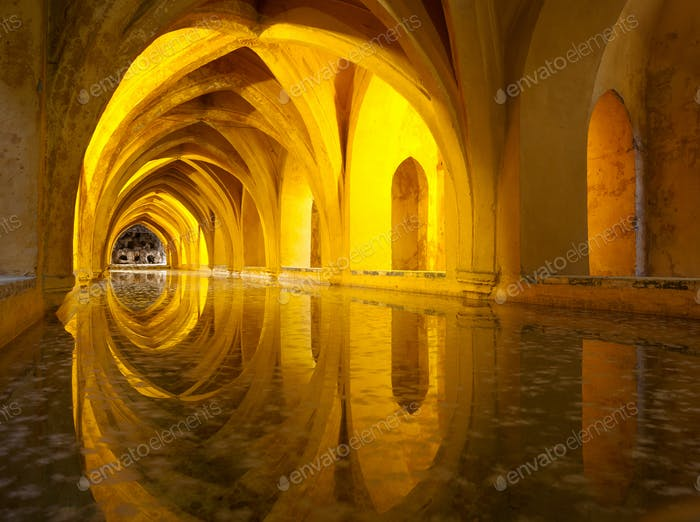 Alcazar queen's bath, Seville, Andalusia, Spain