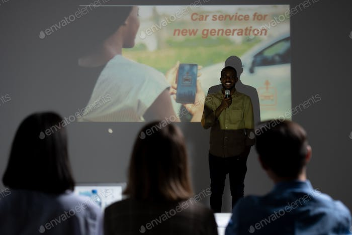 Presenting idea for car service