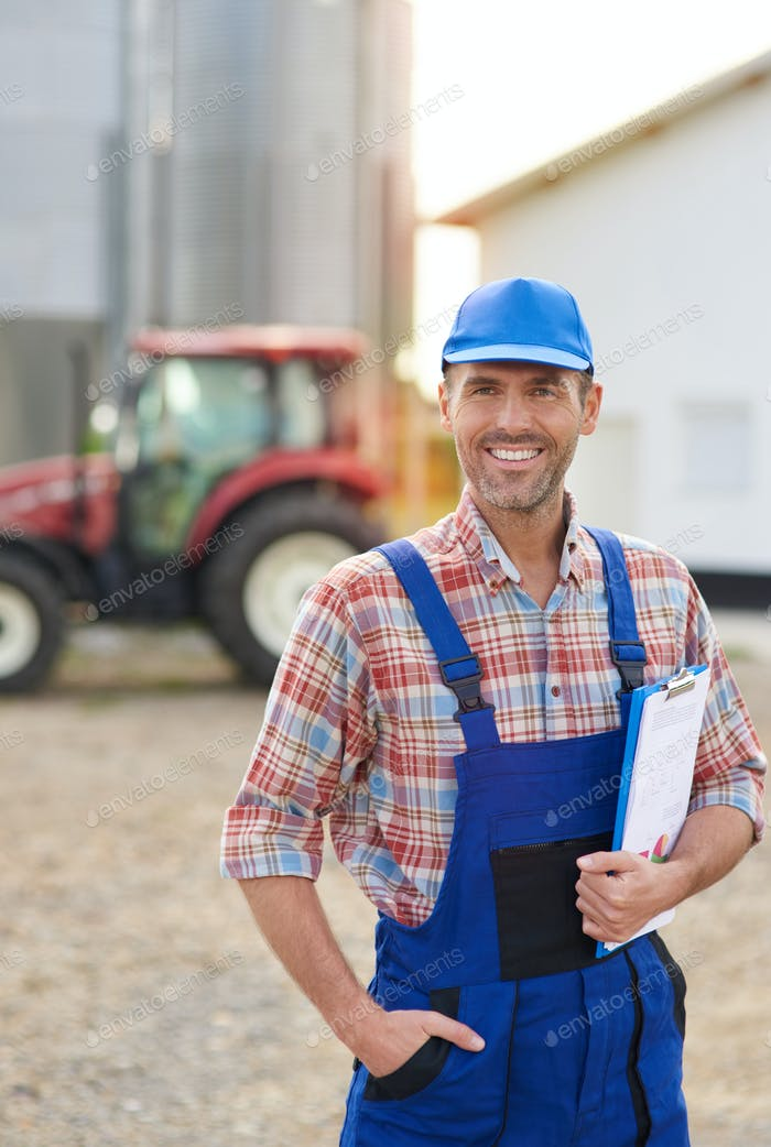Farmer and his agricultural business