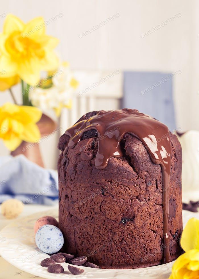 Ostern orthodoxe süße Schokoladenbrot