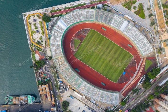 Chai Wan, Hong Kong 22. Mai 2019: Blick auf den Freizeitsportkomplex Hong Kong