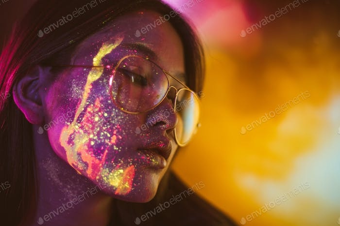 fluo powders faces