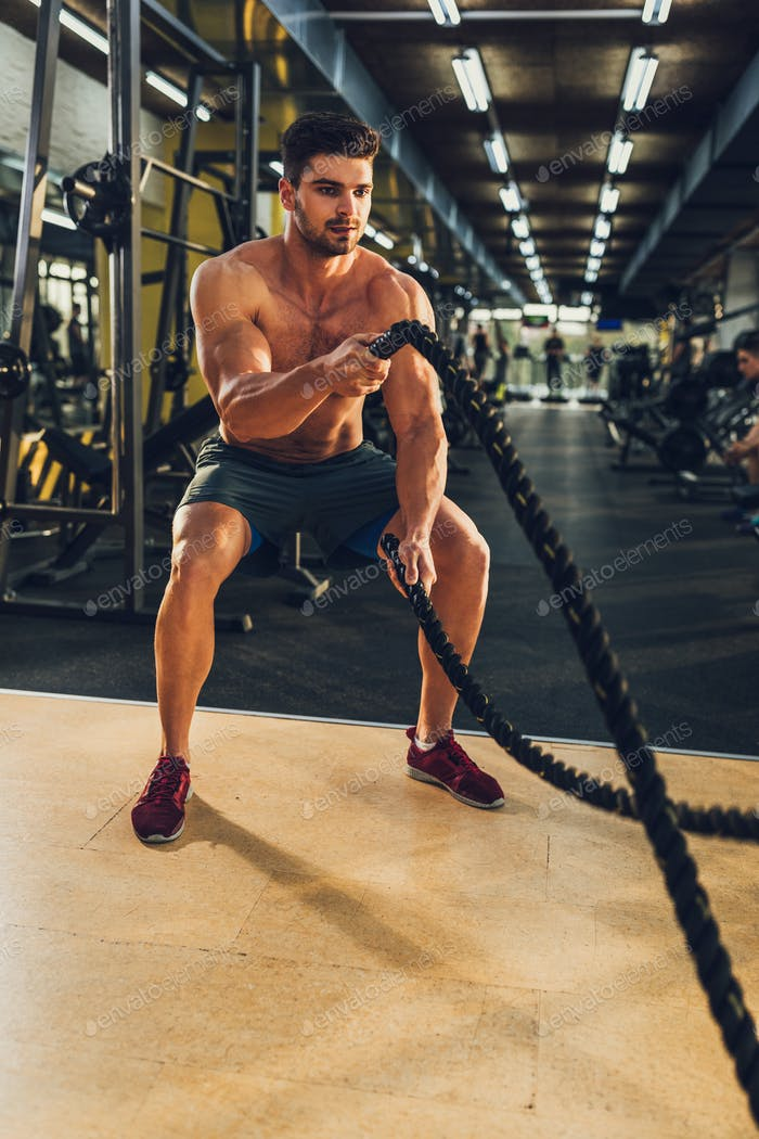 Transforming body with the help of ropes