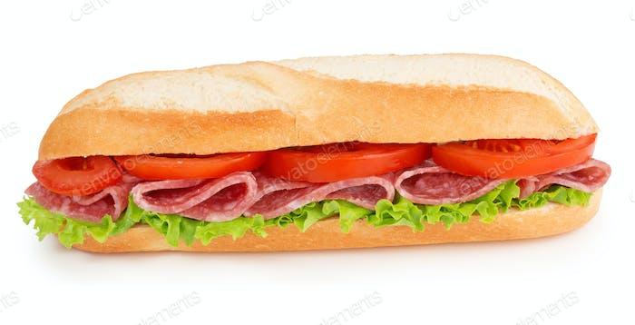 salami and tomato sub