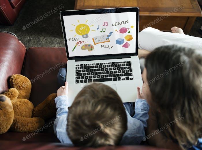 Illustration der Kinderentwicklungserziehung
