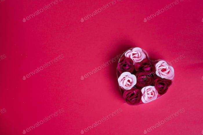 dekorative Seife in Form von Rosen