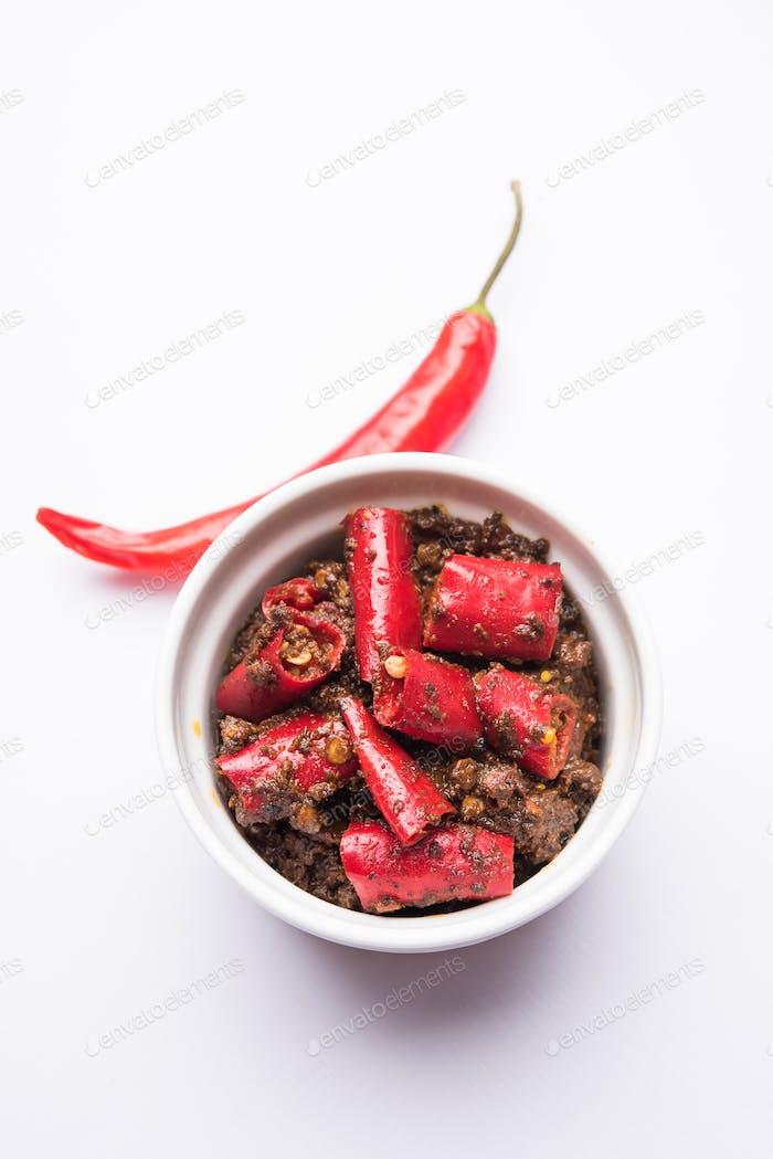 Rote Chili Gurke