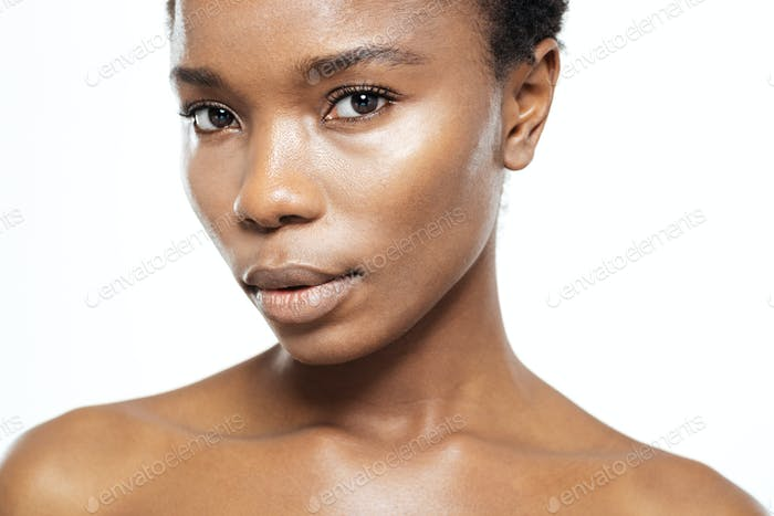 Afro american woman looking at camera