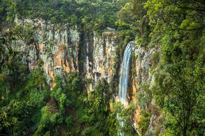 Purlingbrook falls in the Gold Coast Hinterland, Australia