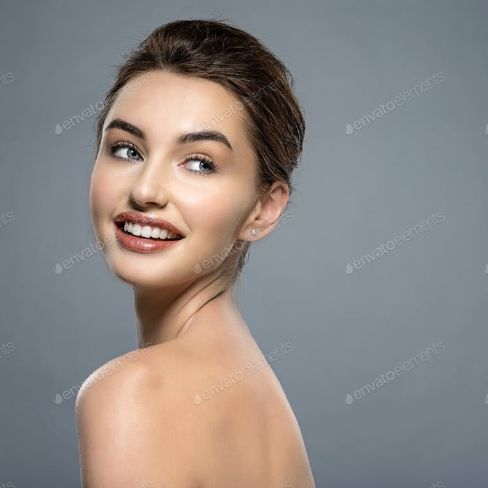 Happy smiling  woman with clean fresh skin