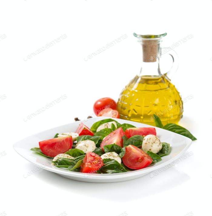 basil, mozzarella and tomato salad