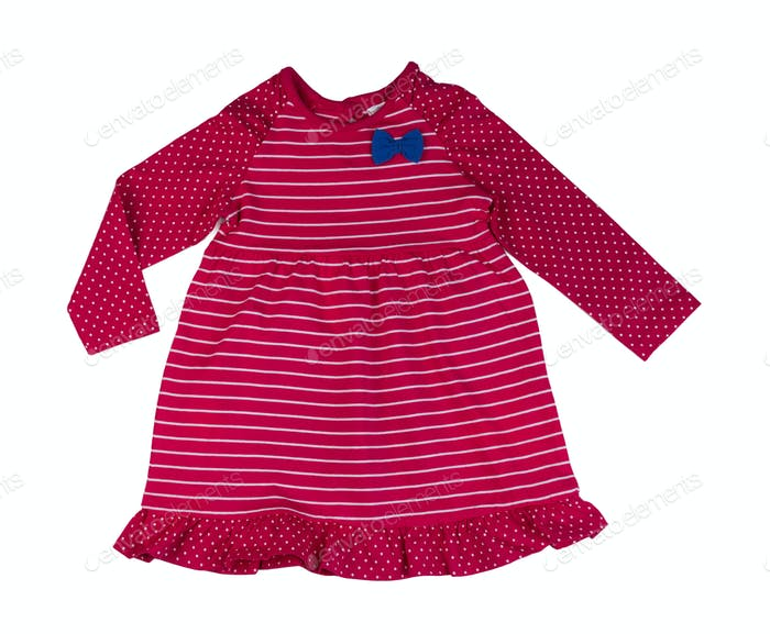 Red striped baby dress.