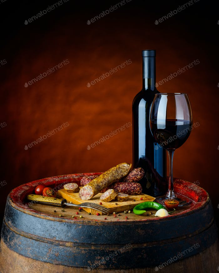 Red Wine with Sausages