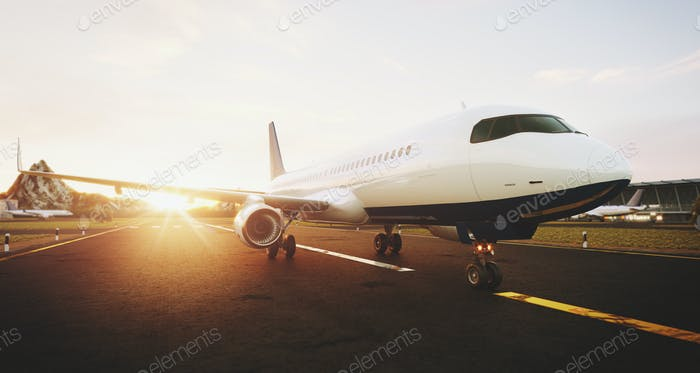 White commercial airplane