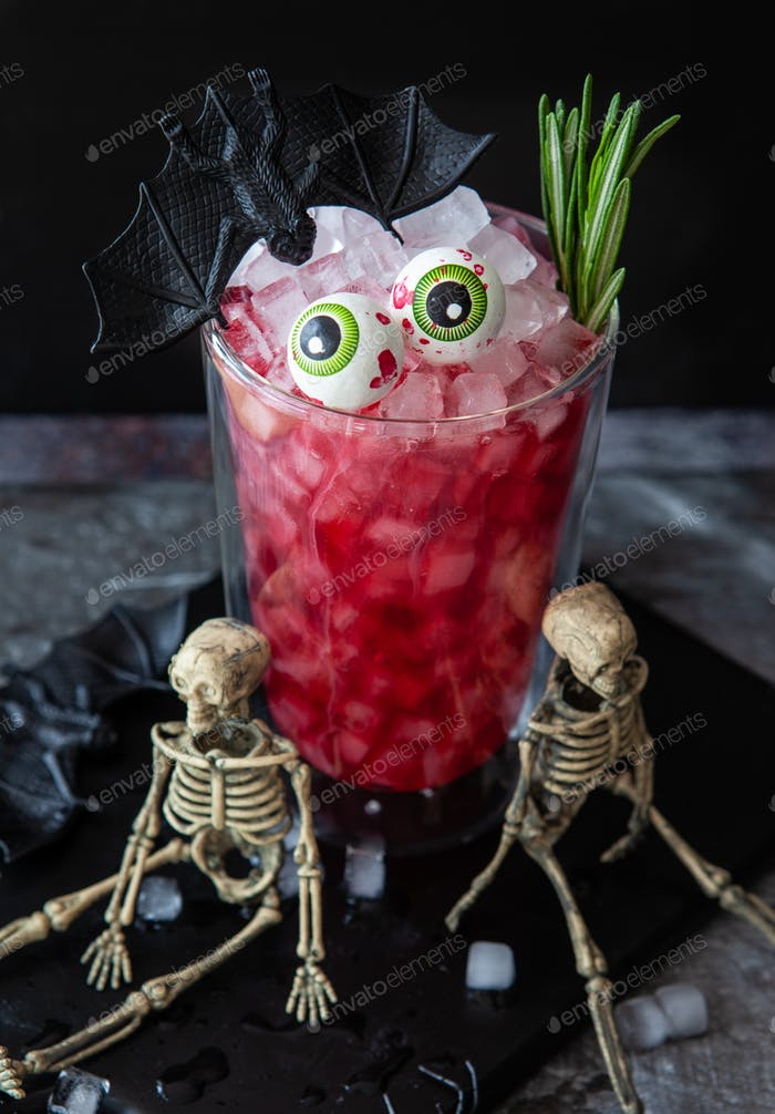 Scary cocktail for Halloween
