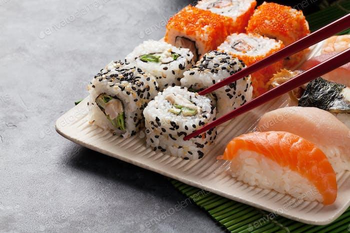 Sushi and maki set