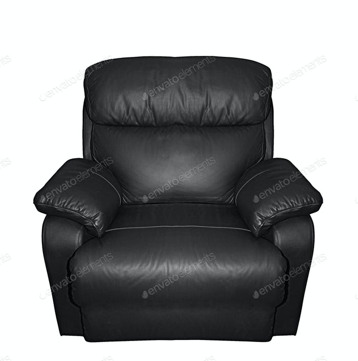 leather black arm chair