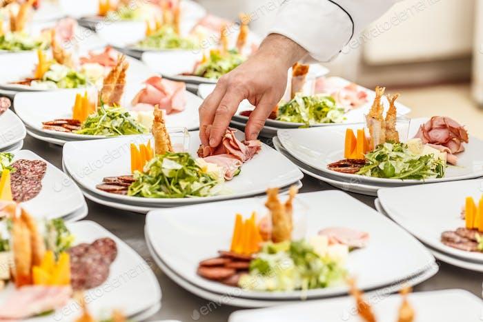 Köstliche Vorspeise Teller