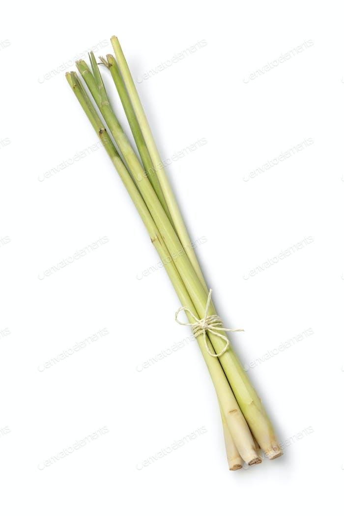 Bunch fresh raw lemongrass