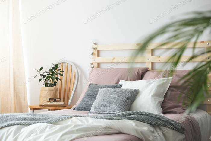 Pink cozy bedding