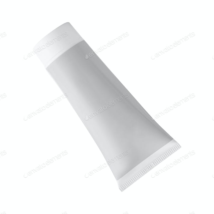 cream tube isolated on white