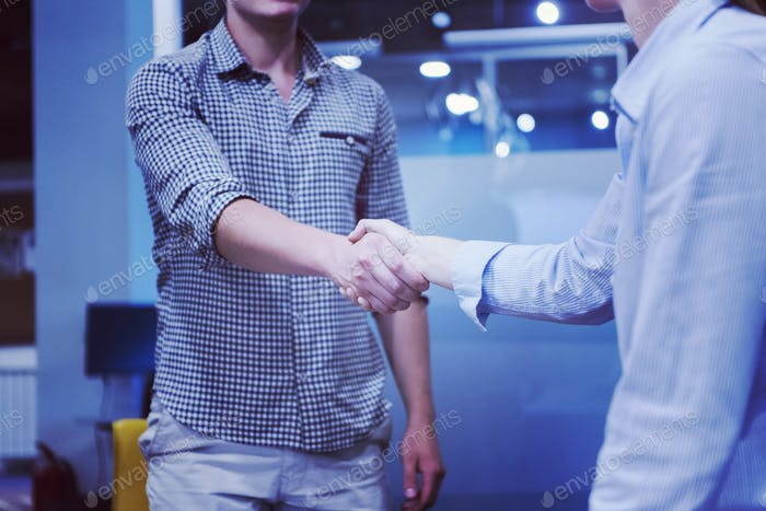 start up business people  handshake