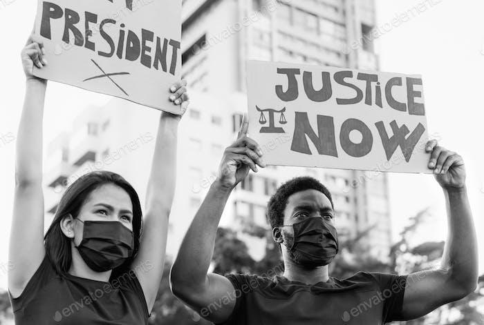 Movimiento social activista que protesta contra el racismo y lucha por la justicia y la igualdad
