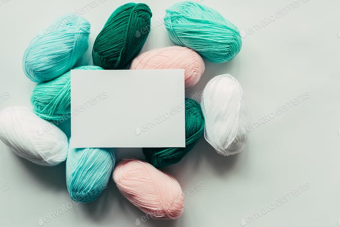 acrylic pastel colored wool yarn thread skeins