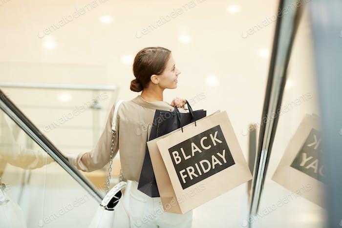 Shopaholic in shopping mall