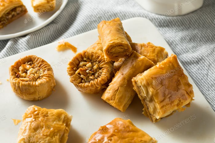 Homemade Turkish Baklava Pastries