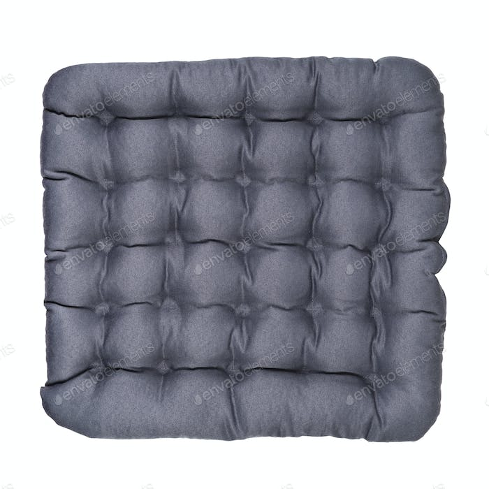 Gray chair pad isolated