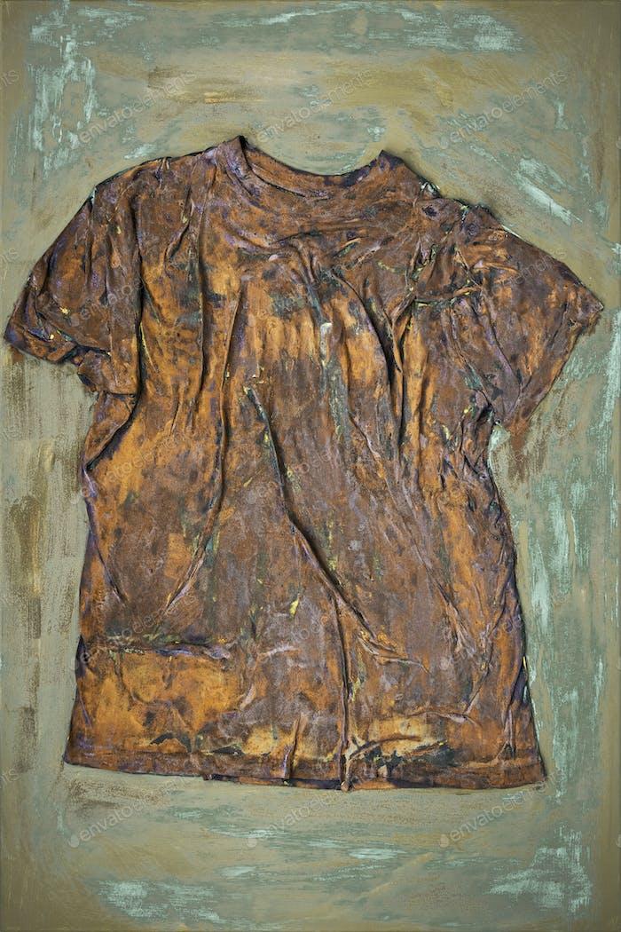 a rusty shirt on canvas art