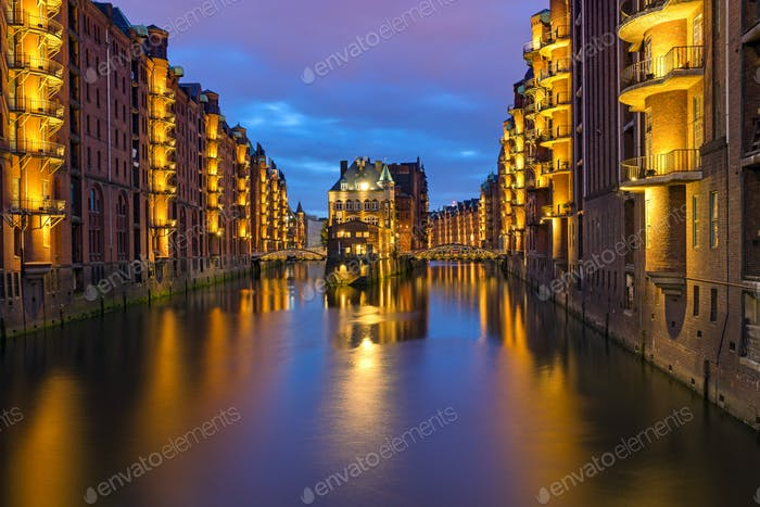 Historic Speicherstadt in Hamburg