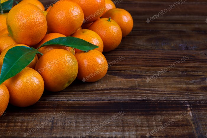 Mandarins or tangerines close up
