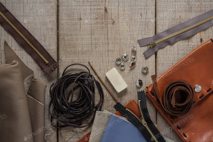Tools of leather on floors