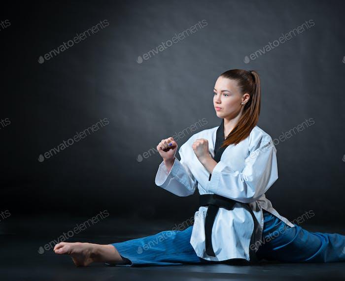 karate woman meeting