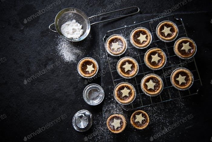 Traditional Christmas mince pie