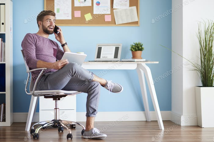 Man in the home office