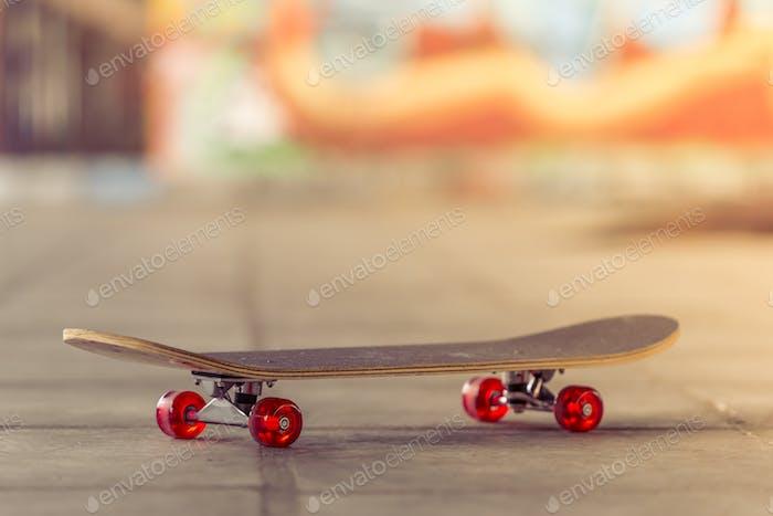 Skateboard in the skate park