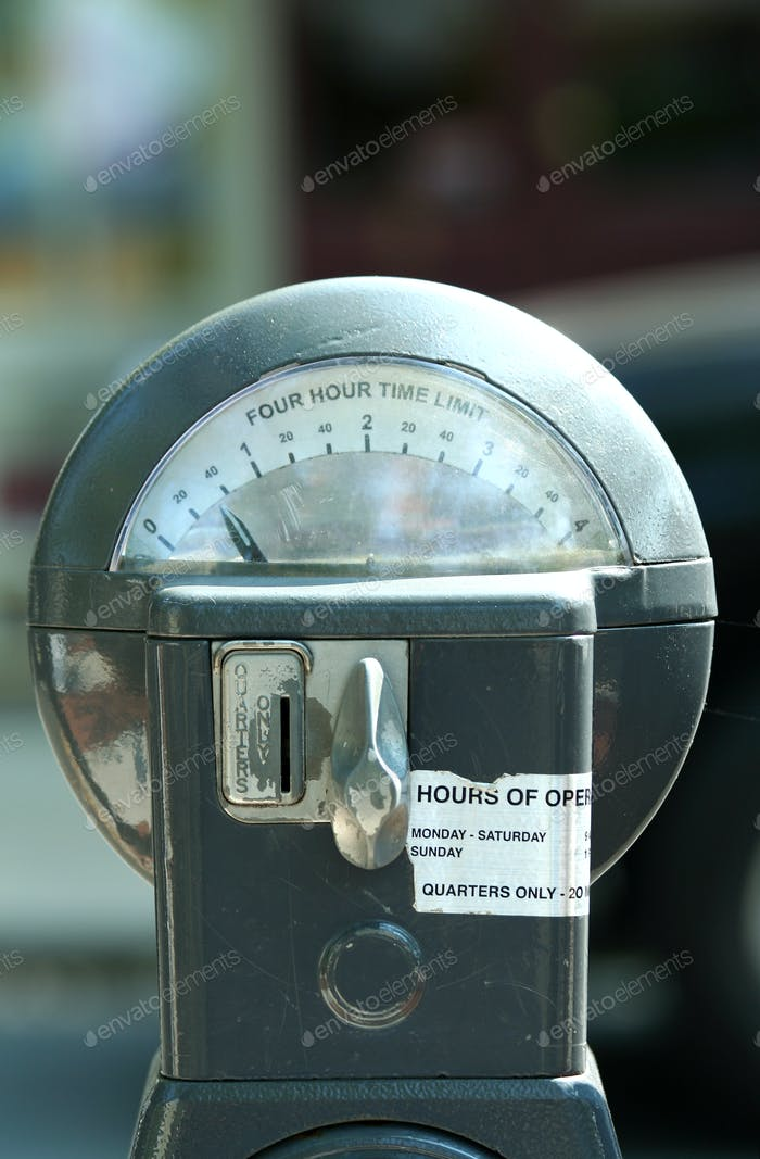 Twenty five cent parking meter