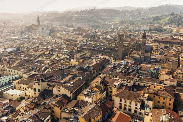 Florence aerial view , sunn