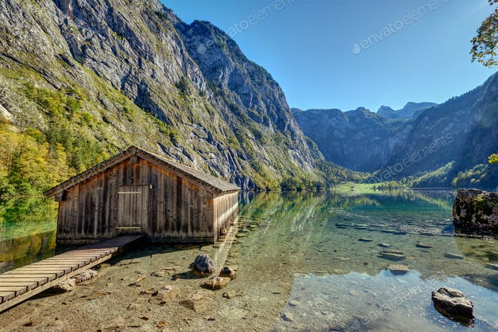 The Obersee in the Bavarian Alp