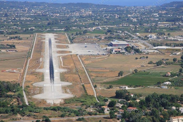 Aerial view on Zakynthos island