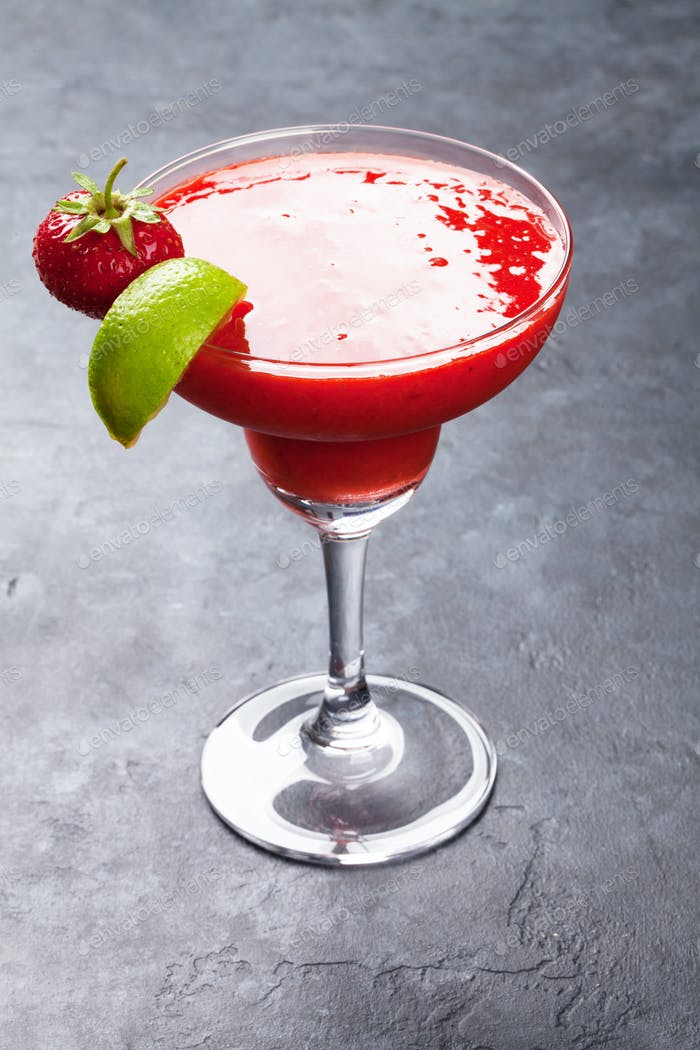 Strawberry margarita cocktail