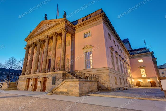 The Berlin State opera at dawn