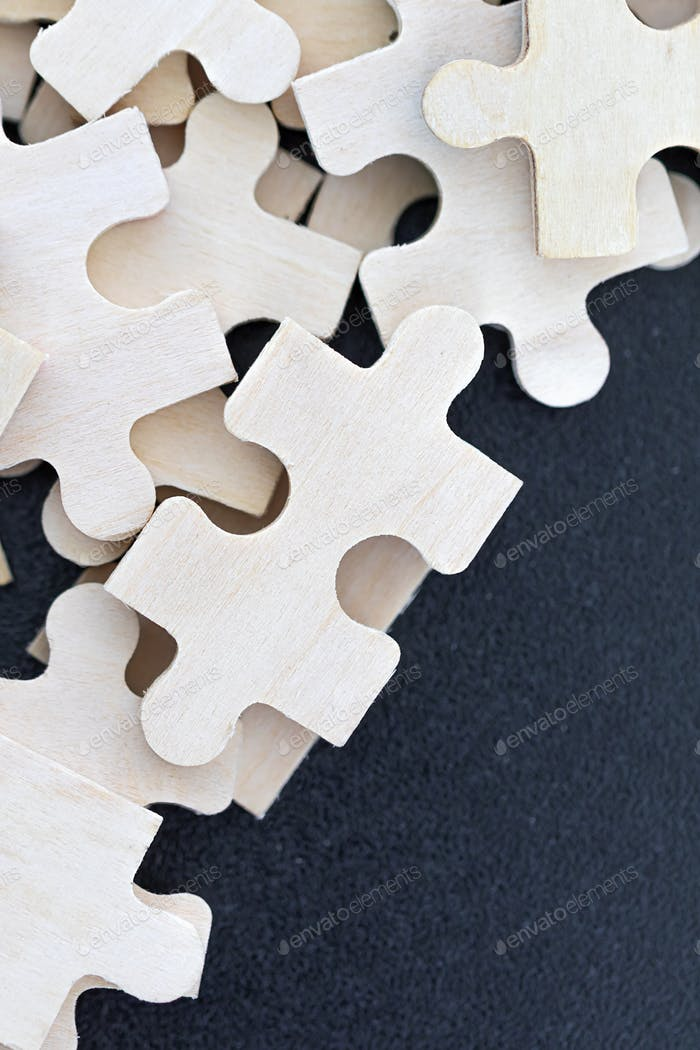 Draufsicht der Puzzleteile