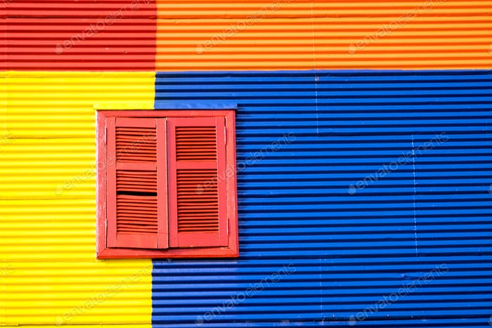 Colorful house in La Boca, Buenos Aires
